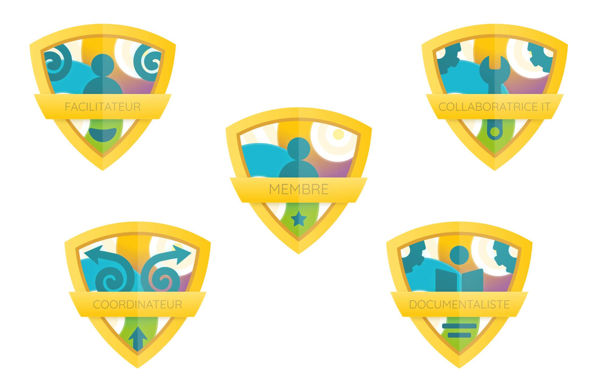 Badges cop communauté apprenante
