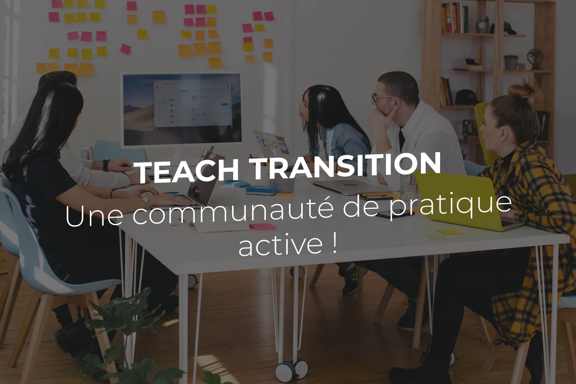 Cop teach transition communauté de pratique